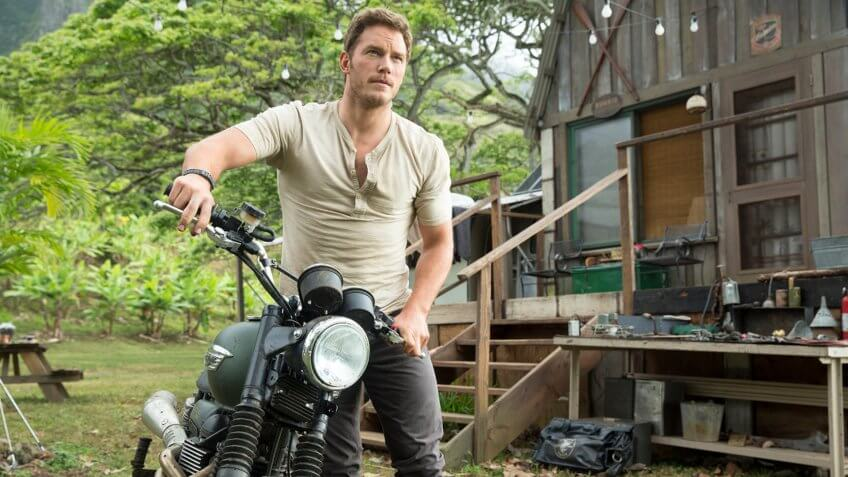 Chris Pratt 'Jurassic World' Film - 2015