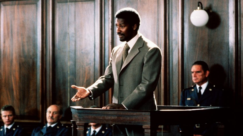 Photo by Marble Arch Prods/Universal/Kobal/REX/Shutterstock Denzel Washington Cry Freedom - 1987 Director: Richard Attenborough Marble Arch Prods/Universal
