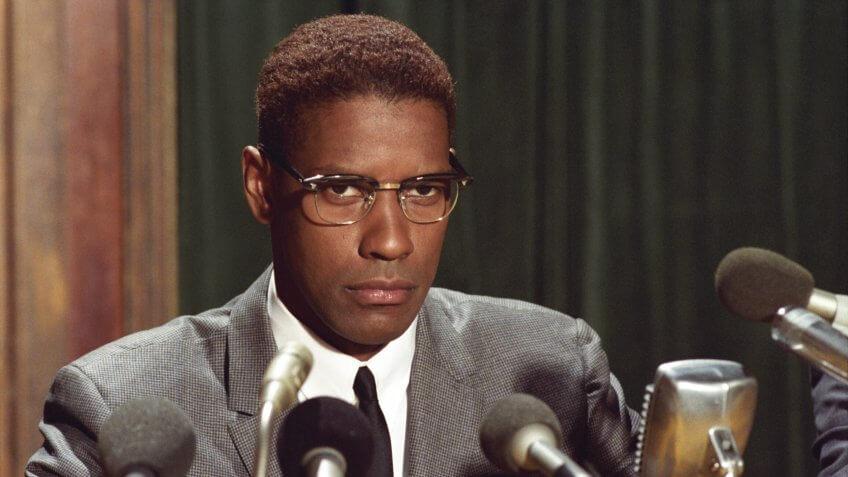 Photo by Warner Bros/Largo International/Kobal/REX/Shutterstock Denzel Washington Malcolm X - 1992 Director: Spike Lee Warner Bros/Largo International/40 Acres & A Mule USA