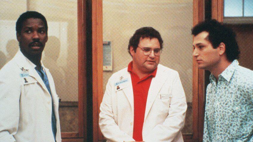 Photo by NBC-TV/Kobal/REX/Shutterstock Denzel Washington, Stephen Furst, Howie Mandel St Elsewhere - 1982-1988 NBC-TV