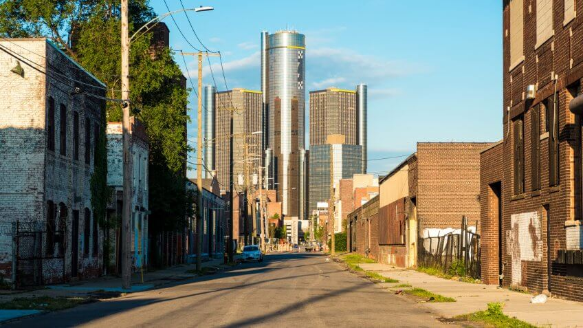 Detroit Michigan landscape