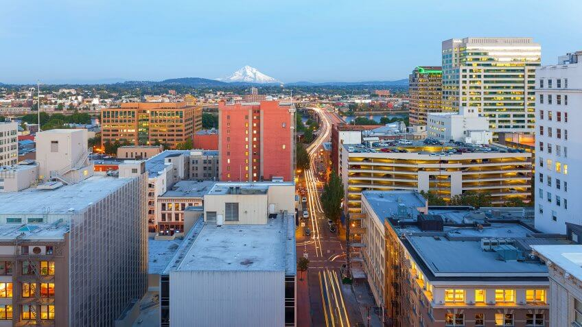 Portland Oregon downtown