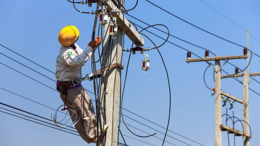 electrical power-line installer, repairer