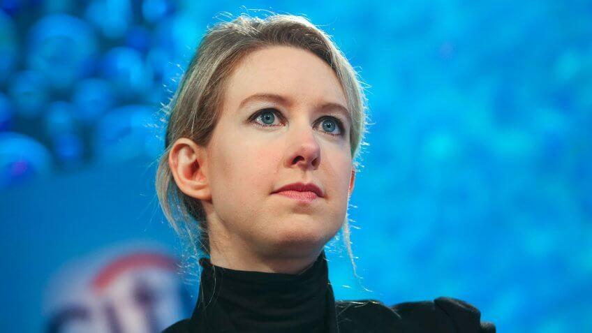 Elizabeth Holmes ex-Theranos CEO