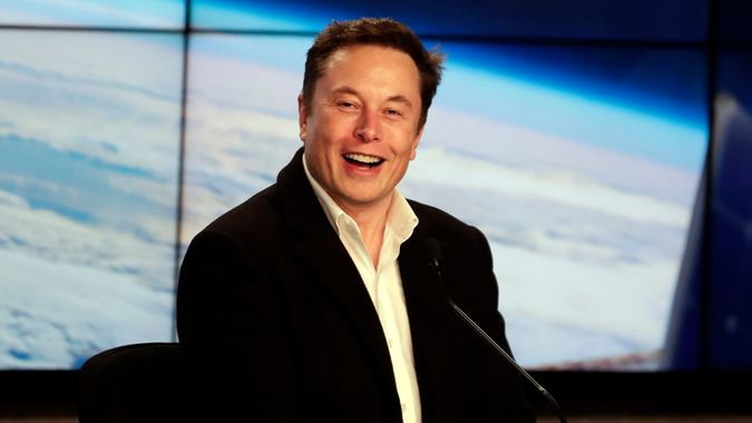 Elon Musk, CEO of SpaceX, speaks during a news conference after the SpaceX Falcon 9 Demo-1 launch at the Kennedy Space Center in Cape Canaveral, Fla SpaceX Crew Capsule, Cape Canaveral, USA - 02 Mar 2019