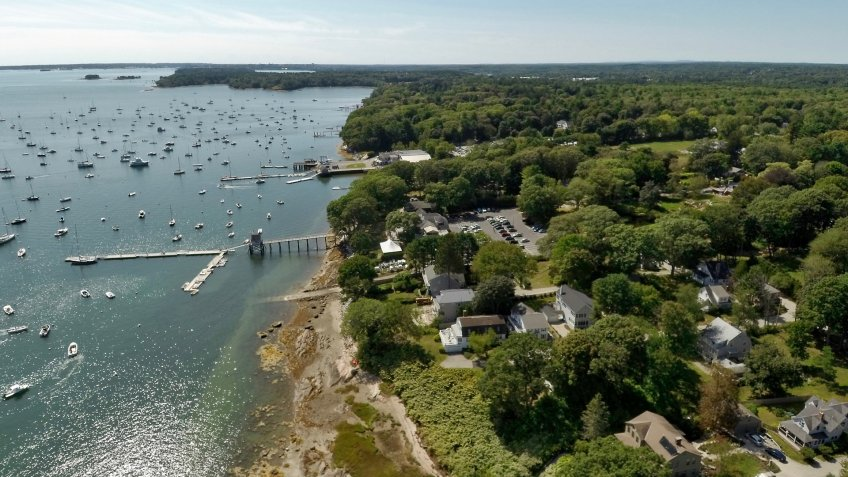 Falmouth Maine aerial photo