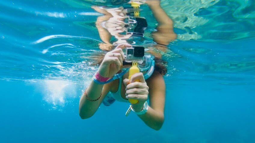 GoPro camera underwater