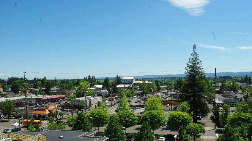 Hillsboro Oregon skyline