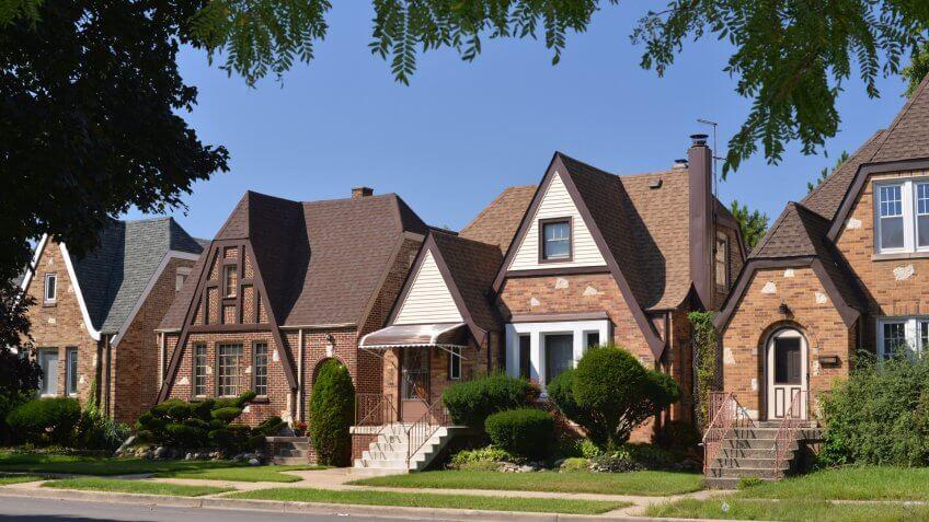 Chicago suburbr housing neighborhood