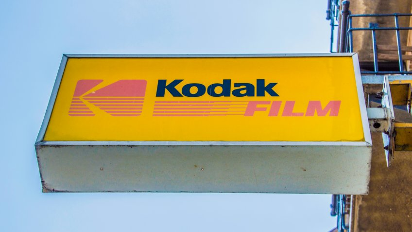 Billboard From Kodak Film From A Photography Shop At Amsterdam The Netherlands 2018.