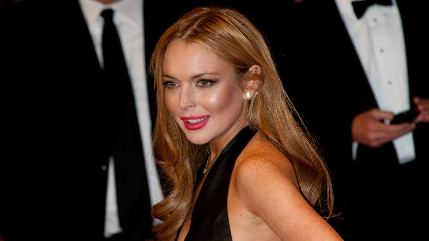 WASHINGTON - APRIL 28: Lindsay Lohan arrives at the White House Correspondents Dinner April 28, 2012 in Washington, D.