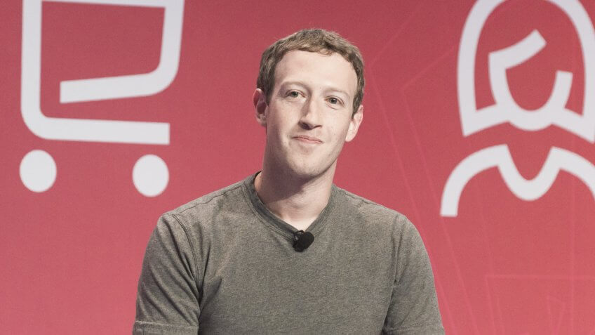 BARCELONA - FEBRUARY 22: Facebook CEO Mark Zuckerberg speaking at the Mobile World Congress on February 22, 2016, Barcelona, Spain.