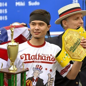 99th Annual Nathan's Hot Dog Eating Contest, New York, America – 04 Jul 2015