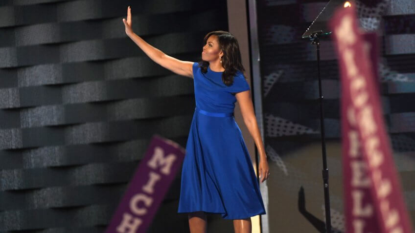 Mandatory Credit: Photo by IBL/REX/Shutterstock (5789984a)Michelle ObamaDemocratic National Convention, Philadelphia, USA - 25 Jul 2016.