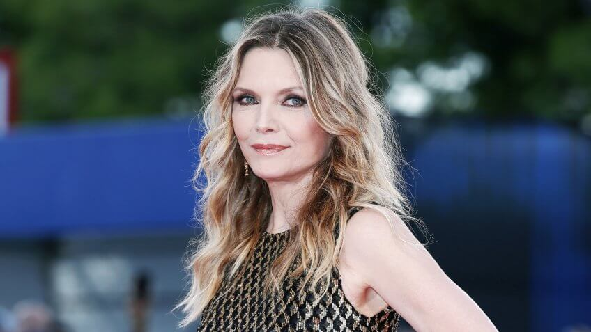 VENICE, ITALY - SEPTEMBER 05: Michelle Pfeiffer attends the red carpet of the movie 'Mother!' during the 74th Venice Film Festival on September 5, 2017 in Venice, Italy.