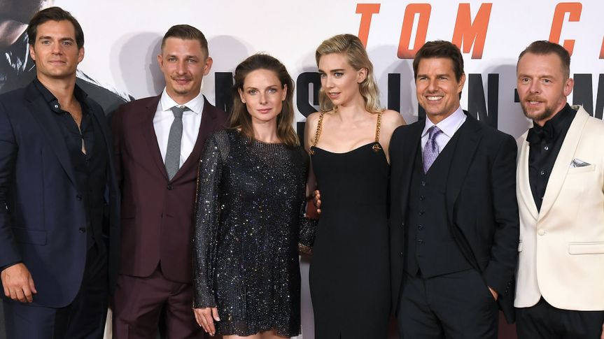 Photo by James Gourley/REX/Shutterstock (9760929ch)Henry Cavill, Frederick Schmidt, Rebecca Ferguson, Vanessa Kirby, Tom Cruise and Simon Pegg'Mission Impossible: Fallout' film premiere, London, UK - 13 Jul 2018.