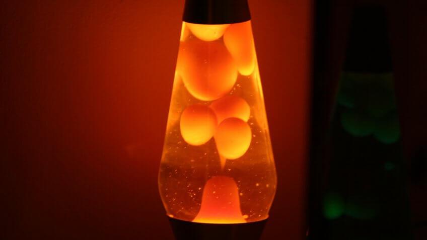 Orange lava lamp