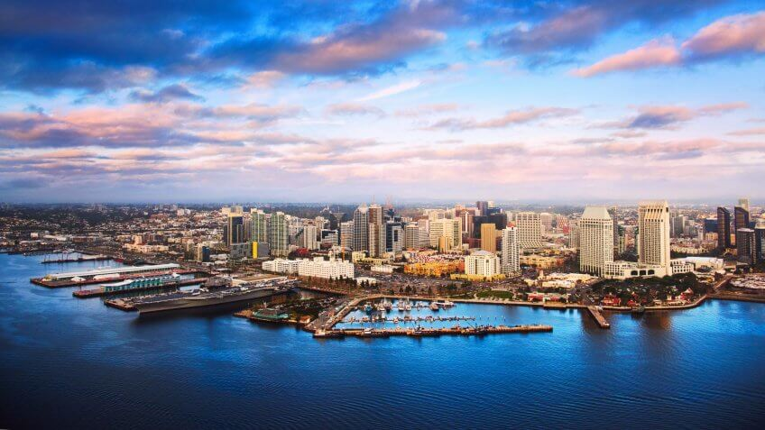 Beautiful downtown San Diego, California