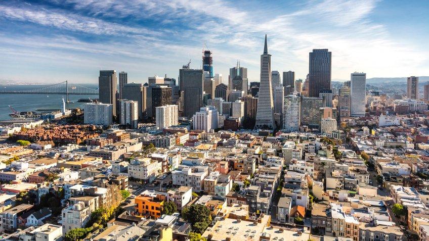 San Francisco Downtown, California.