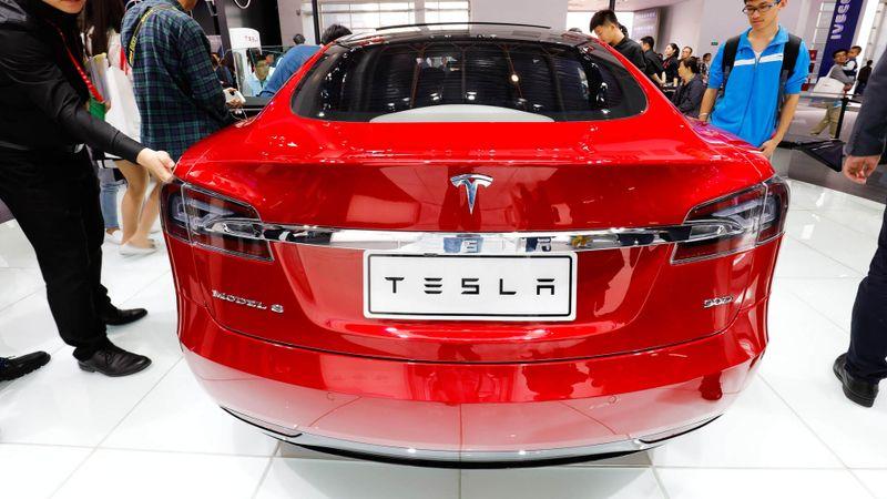 Tesla car show in Beijing China
