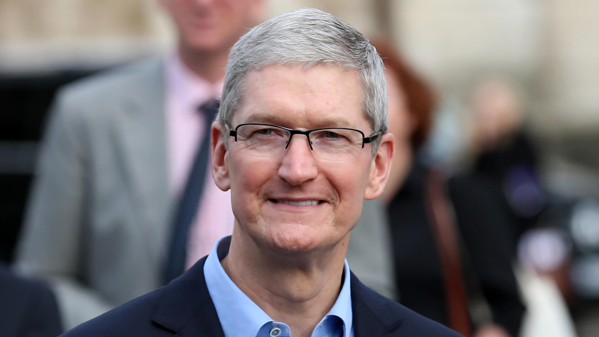 DUBLIN, IRELAND - 11/11/2015 Apple CEO, Tim Cook, arrives for a Q&A with members of the Trinity College Dublin Philosophical Society and receive the Gold Medal of Honorary Patronage.