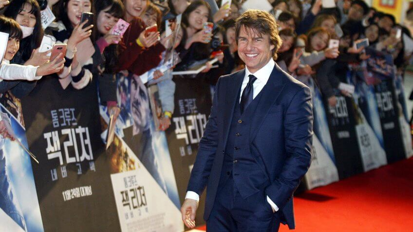 Mandatory Credit: Photo by Kim Hee-chul/Epa/REX/Shutterstock (8135449aj)Us Actor/cast Member Tom Cruise Poses For Photographs As He Arrives For the Premiere of 'Jack Reacher: Never Go Back' at the Lotte World in Seoul South Korea 07 November 2016 the Movie Will Open in South Korean Theaters on 24 November Korea, Republic of SeoulSouth Korea Cinema - Nov 2016US actor/cast member Tom Cruise poses for photographs as he arrives for the premiere of 'Jack Reacher: Never Go Back' at the Lotte World in Seoul, South Korea, 07 November 2016.