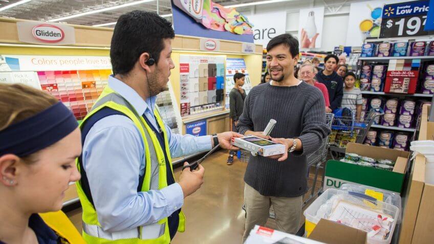 customer shopping during Black Friday in Walmart