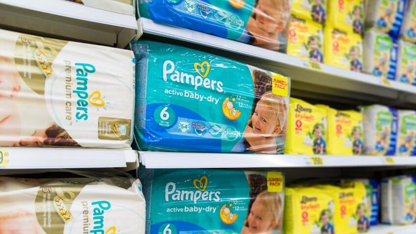 baby diapers and supplies