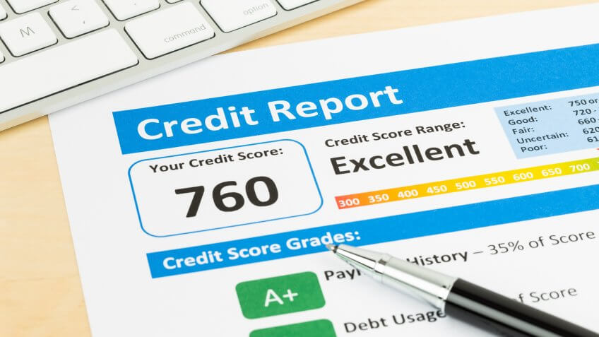 credit report with 760