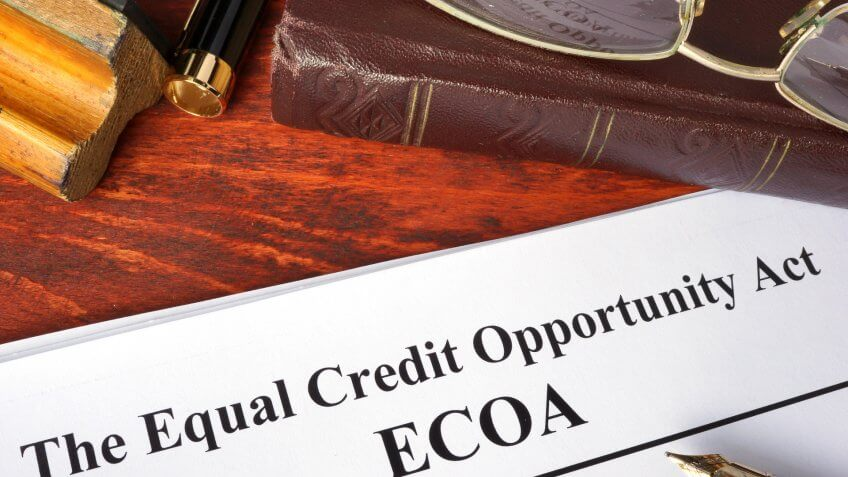equal credit opportunity act ECOA