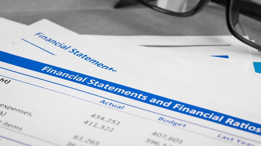 financial statements and financial ratios