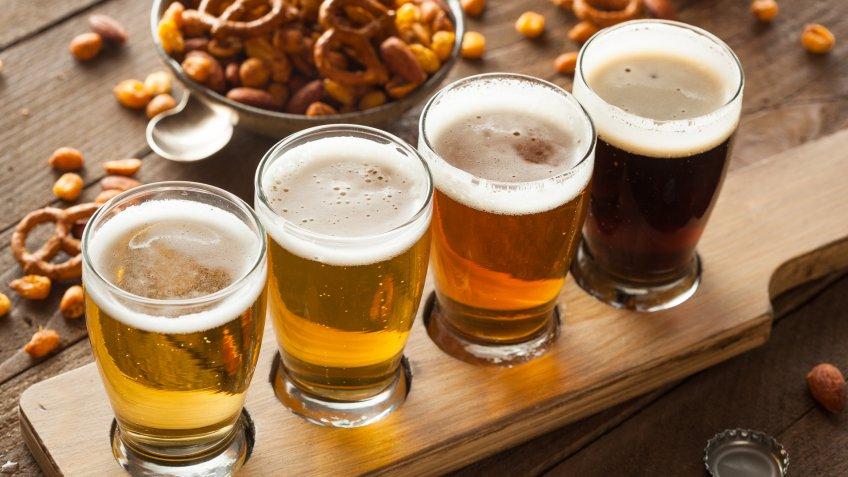 flight of beer tasting