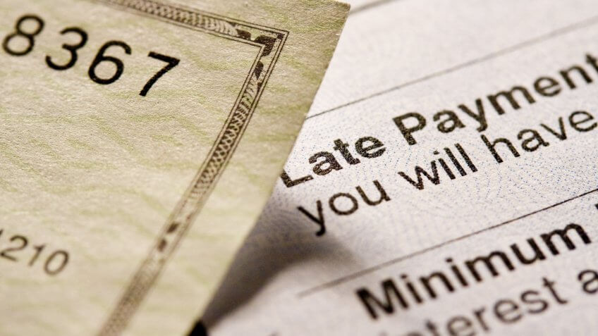 late payment bill and check