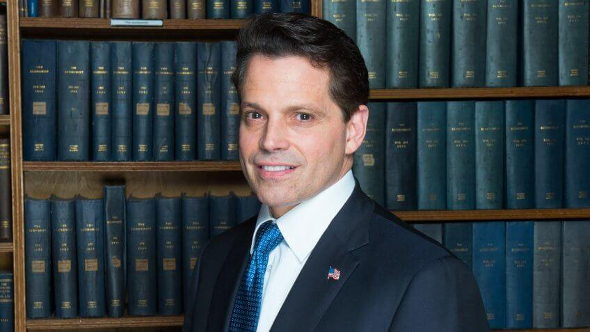 Anthony Scaramucci at the Oxford Union, UK - 16 Oct 2017.