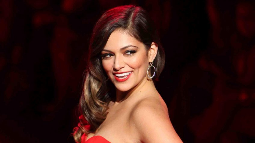 NEW YORK-FEB 12: Bethany Mota wears Badgely Mischka at Go Red for Women-The Heart Truth Red Dress Collection at Mercedes-Benz Fashion Week at Lincoln Center on February 12, 2015 in New York City.