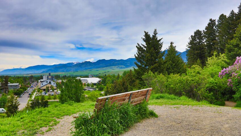 The hills of Bozeman, Montana are full of paths for walking, running and other fitness activities.