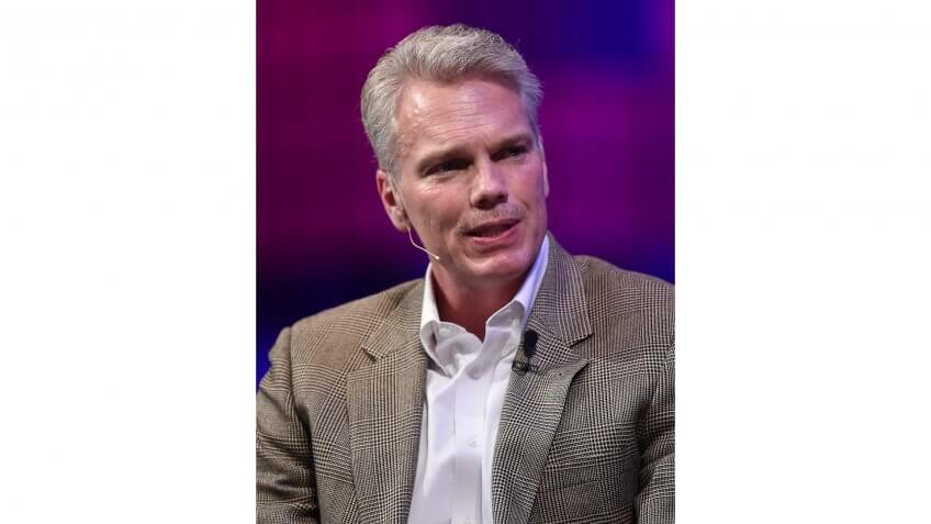 6 November 2014; Brad Smith, CEO, Intuit, on the centre stage during Day 3 of the 2014 Web Summit in the RDS, Dublin, Ireland.