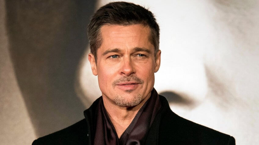 "Mandatory Credit: Photo by Invision/AP/REX/Shutterstock (9244311a)Brad Pitt appears at the premiere of ""Allied"" in London."