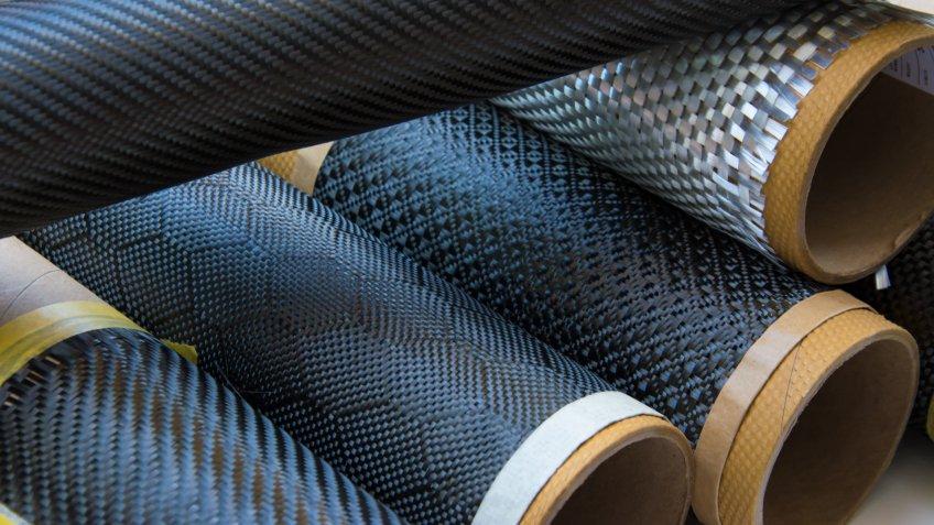 rolls of carbon fiber