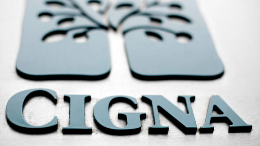 Cigna logo at headquarters