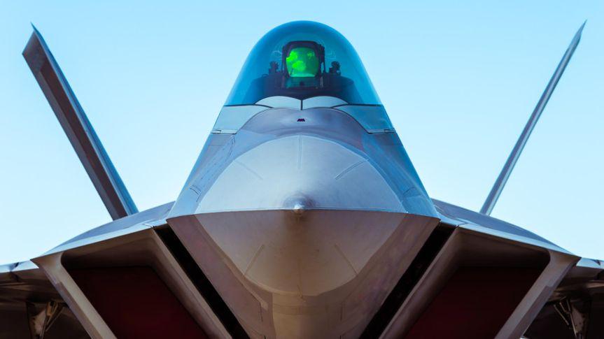 F-22 Raptor fighter bomber