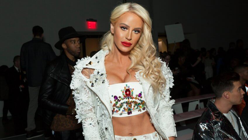 New York, NY - February 13, 2018: Gigi Gorgeous attends The Blonds fashion show during Autumn/Winter 2018 New York Fashion Week at Spring Studios.