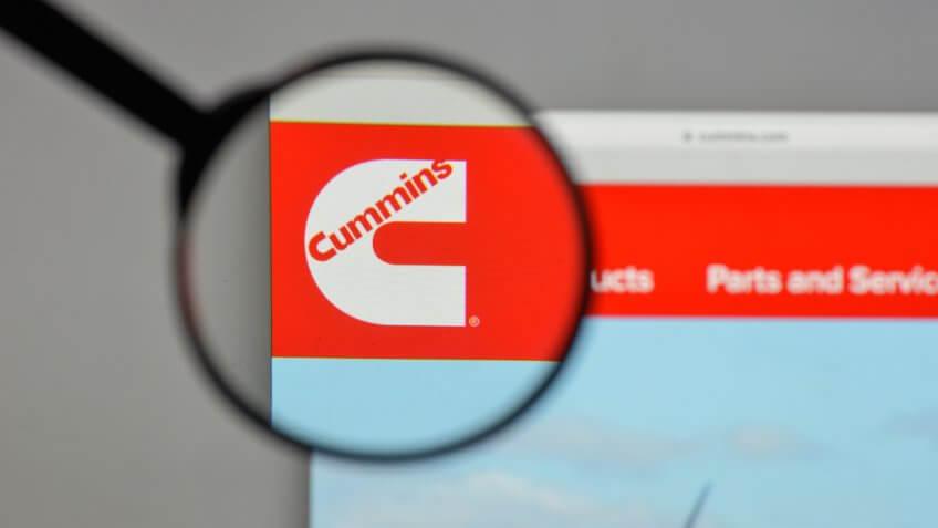 Milan, Italy - August 10, 2017: Cummins logo on the website homepage.