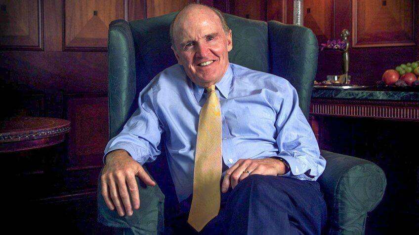 Photo by REX/Shutterstock GENERAL ELECTRIC BOSS JACK WELCH WHO HAS A NEW BOOK OUT. JACK WELCH HEAD OF GEC GENERAL ELECTRIC, BRITAIN - 09 OCT 2001