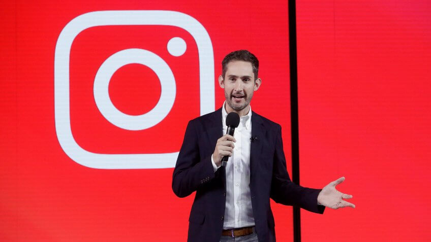 Photo by Jeff Chiu/AP/REX/Shutterstock Kevin Systrom, CEO and co-founder of Instagram, prepares for Wednesday's announcement about IGTV in San Francisco.
