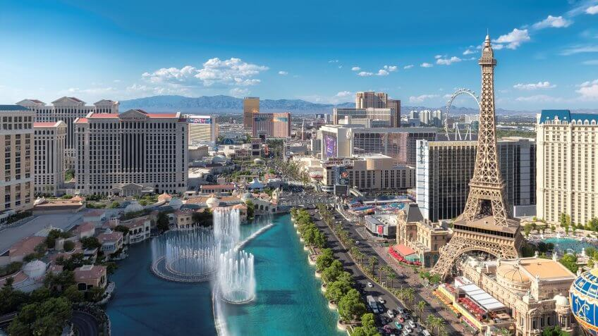 Las Vegas Nevada aerial
