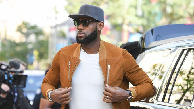 """Mandatory Credit: Photo by Invision/AP/REX/Shutterstock (9048707n)Executive producer LeBron James attends a premiere for """"The Carter Effect"""" on day 3 of the Toronto International Film Festival at the Princess of Wales Theatre, in Toronto2017 TIFF - """"The Carter Effect"""" Premeire, Toronto, Canada - 09 Sep 2017."""