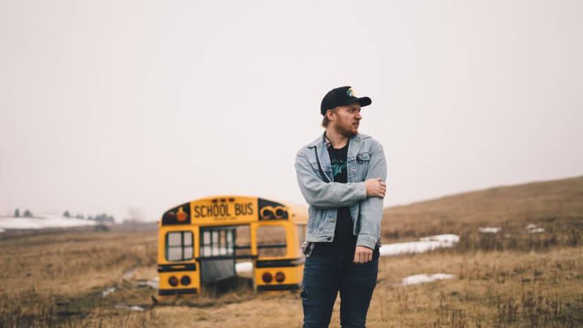 Man exploring the outdoors of North Dakota