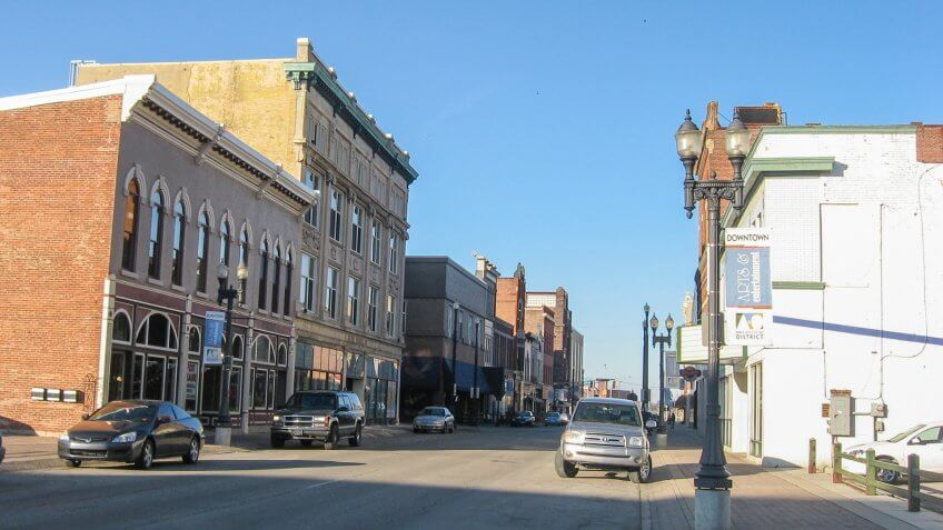 downtown Muncie Indiana