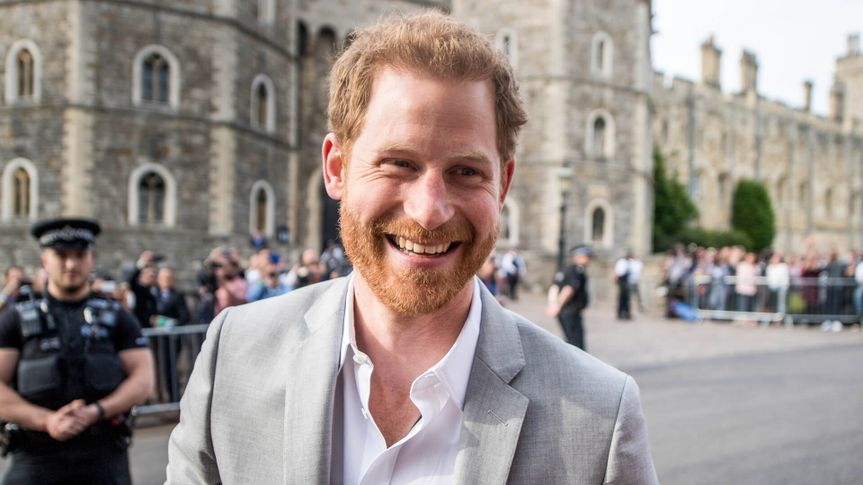Mandatory Credit: Photo by James Gourley/REX/Shutterstock (9683051y)Prince Harry outside Windsor CastleRoyal Wedding of Prince Harry and Meghan Markle in Windsor, United Kingdom - 18 May 2018.